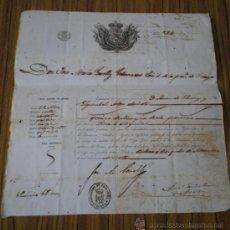 Documentos antiguos: PASAPORTE BILBAO 1860 .. D. JOSE LUIS GARELLY GOBERNADOR CIVIL DE LA PROVINCIA DE VIZCAYA. Lote 25538029