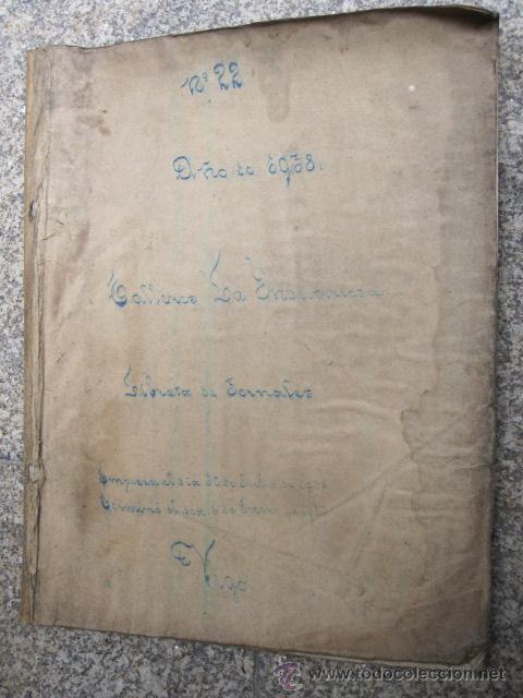 VIGO 1938 - LIBRETA CON DETALLE DE JORNALES DE LA EMPRESA LA INDUSTRIOSA - FUNDICIONES SANJURJO (Coleccionismo - Documentos - Otros documentos)
