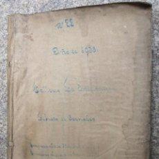 Documentos antiguos: VIGO 1938 - LIBRETA CON DETALLE DE JORNALES DE LA EMPRESA LA INDUSTRIOSA - FUNDICIONES SANJURJO. Lote 25604830