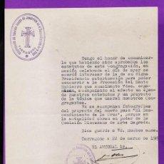 Documentos antiguos: S. SANTA - 1ª SOLICITUD A LA PROCESION DE TARRAGONA - CONG. DESCENDIMIENTO CRUZ - AÑO 1949 - TGN. Lote 26054263