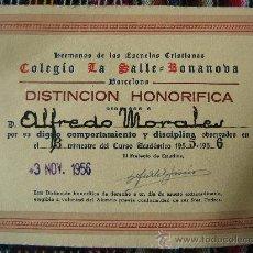 Diploma hermanos de las escuelas cristianas col comprar - Bonanova subastas catalogo ...