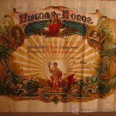 Documentos antiguos: DIPLOMA DE HONOR AL PRIMER RAMO DE ROSAS. 1º CERTAMEN 1954. LA BISBAL DEL PENEDES. PANADES. Lote 26406451
