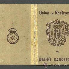 Documentos antiguos: 0020 CARNET DE LA UNIO DE RADIOYENTES DE RADIO BARCELONA - AÑO 1956. Lote 26755129