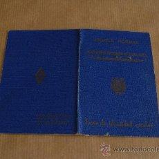 Documentos antiguos: CARNET DE LA ESCUELA NORMAL DE MAGISTERIO PRIMARIO DE ZARAGOZA. . Lote 26821589
