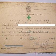 Documentos antiguos: URUGUAY 1965-1967 3 DOCUMENTOS ESCUELA DE SANIDAD - 3 SCHOOL HEALTH DOCUMENTS - ENFERMERÍA. Lote 27299282