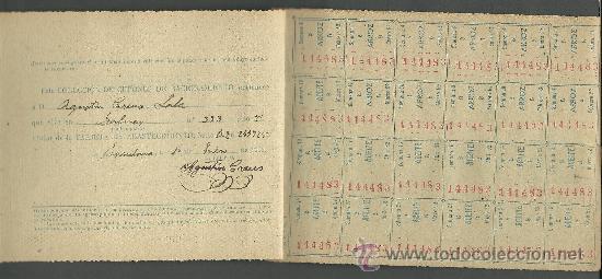 Documentos antiguos: CX-8 CARTILLA DE RACIONAMIENTO de Primera categoria DE LA COMISARIA GENERAL ABASTECIMIENTOS Y TRA - Foto 3 - 27381867