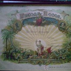 Documentos antiguos: DIPLOMA DE HONOR CERTAMEN ARTISTICO 1944. Lote 27387508