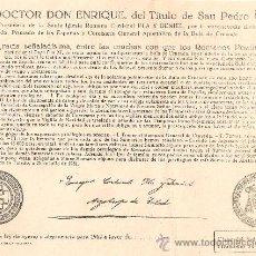 Documentos antiguos: BULA DE LA CRUZADA AÑO 1962 CLASE DEL INDULTO 6ª.TAMAÑO MEDIO FOLIO. Lote 35992531