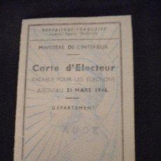 Documentos antiguos: CARNET DE IDENTIDAD ESCOLAR FRANCES 1942. ENVIÓ GRATUITO. Lote 27670790