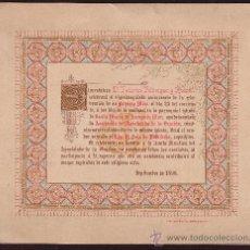 Documentos antiguos: ARENYS DE MAR 1898 * RECUERDO 25 ANIVERSARIO DE MISA * FEDERICO FABREGAS Y ROSSELL. Lote 27845855