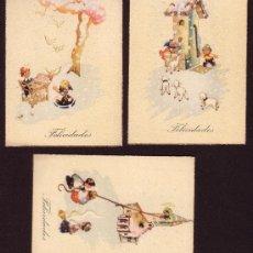 Documentos antiguos: LOTE DE 3 CARTONCITOS DE FELICIDADES * AÑOS 1940 ´S *. Lote 27846077