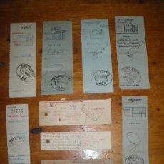 Documentos antiguos: 9 RECIBOS DE GIRO POSTAL. AÑOS 40 50.. Lote 27919865