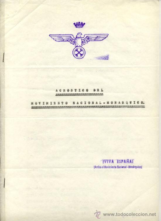 EL MOVIMIENTO NACIONAL-MONÁRQUICO PROPONE DOS CONCENTRACIONES EN ESTADIO BERNABEU -- 3 DOCS. DE 1972 (Coleccionismo - Documentos - Otros documentos)