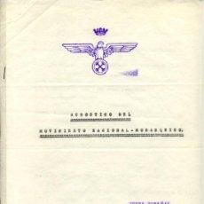 Documentos antiguos: EL MOVIMIENTO NACIONAL-MONÁRQUICO PROPONE DOS CONCENTRACIONES EN ESTADIO BERNABEU -- 3 DOCS. DE 1972. Lote 28473604