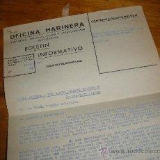 Documentos antiguos: OFICINA HARINERA, BOLETIN INFORMATIVO. JUNIO 1960.. Lote 28536456