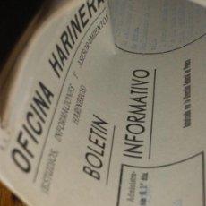 Documentos antiguos: OFICINA HARINERA, BOLETIN INFORMATIVO. JULIO 1960.. Lote 28640424