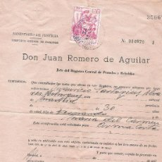 Documentos antiguos: CERTIFICADO DE PENALES - AÑOS 50. Lote 31884140