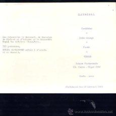Documentos antiguos: MENU DE SUECIA. STADSHUSET.1955. Lote 28757051