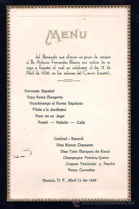 Casino espanol mexico city menu