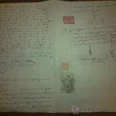 Documentos antiguos: SELLO COLEGIO NOTARIAL. NOTARIOS SEVILLA. DOCUMENTO MANUSCRITO.. Lote 28846833