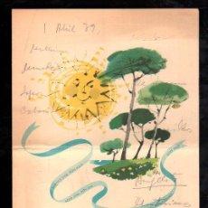 Documentos antiguos: MENU HOTEL SON VIDA. PALMA DE MALLORCA. Lote 28871273