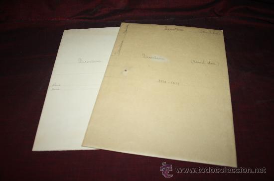 CARPETA CON GRABADO Y RECORTE DE MANUEL JOSÉ QUINTANA. PROCEDENTE DE ARCHIVO PRIVADO (Coleccionismo - Documentos - Otros documentos)