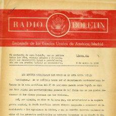 Documentos antiguos: RADIO BOLETÍN Nº534 (EMBAJADA DE ESTADOS UNIDOS) 8-1-1959 . Lote 29010225
