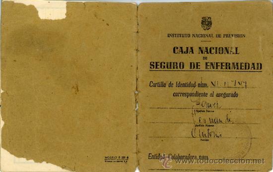 CARTILLA CAJA NACIONAL SEGURO ENFERMEDAD. ANTONIO GOMEZ FERNANDEZ. 1944 (Coleccionismo - Documentos - Otros documentos)