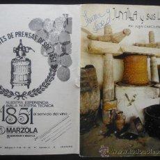 Documentos antiguos: JUMILLA. LIBRO CON PROGRAMA FERIA Y FIESTAS VENDIMIA 1973.. Lote 191379332