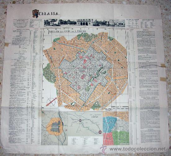 Mapa De Terrassa 1932 Buy Other Old Documents At Todocoleccion