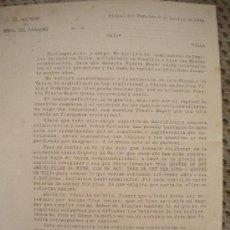 Documentos antiguos: CARTA DEL ALCALDE DE LA BISBAL DEL PENEDES CASTELLS EN LA FIESTA MAYOR, XIQUETS VALLS.1948 (SOLER). Lote 29607032