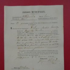 Documentos antiguos: FONDOS MUNICIPALES. AYUNTAMIENTO DE VILLAFRANCA, LEÓN 1873. Lote 29740315