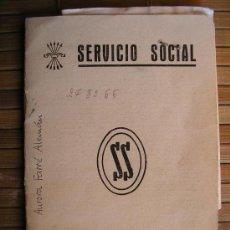 Documentos antiguos: CARNET SERVICIO SOCIAL AJUSTE DE LOS TRABAJOS CON FOTO Y SELLOS C-28. Lote 30082023