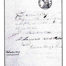 Documentos antiguos: 1857.- PAGARE DE 1 R. DE VELLON Y SELLO SECO. FDA. Mª VENTURA DE BRANDIS MARQUESA DEL VALLE DE RIBAS. Lote 30243003