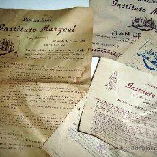 Documents Anciens: INSTITUTO MARYCEL. BARCELONA. FABRICAR PERFUMES, JABONES, DESTILAR VINOS, LICORES, PLANTAS.... Lote 30318655