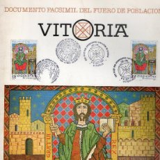 Documentos antiguos: DOCUMENTO FACSIMIL DEL FUERO DE POBLACIÓN DE VITORIA. Lote 30335416