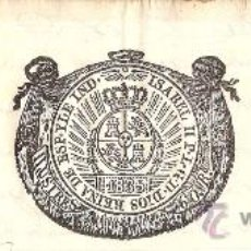Documentos antiguos: CABECERA DE PAPEL TIMBRADO - 60 REALES - AÑO 1835. Lote 30366283