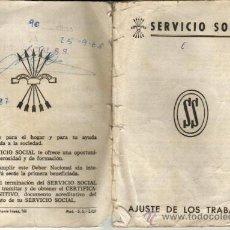Documentos antigos: 1968 VALENCIA AJUSTES DE TRABAJOS SERVICIO SOCIAL DE FALANGE TRADICIONALISTA Y DE LAS JONS.. Lote 30424420