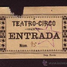Documentos antiguos: TEATRO CIRCO ESTAMPADO CON ESTRELLA CUATRIBARRADA * ANTIGUO TICKET O ENTRADA. Lote 30448491