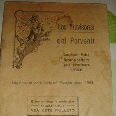 Documentos antiguos: LOS PREVISORES DEL PORVENIR - FOTOGRAFÍAS DE ÉPOCA EN LA REVISTA - JULIO DE 1929. Lote 30787886