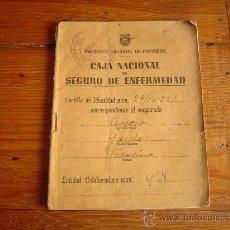Documentos antiguos: CARTILLA DE IDENTIDAD. CAJA NACIONAL SEGURO DE ENFERMEDAD.1944. Lote 30790303