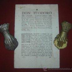 Documentos antiguos: 1786-TEODORO DE CROIX.LIMA.PERÚ.CHILE.LUTO AMÉRICA.PLAÑIDERAS Y LLORONAS. Lote 30792327