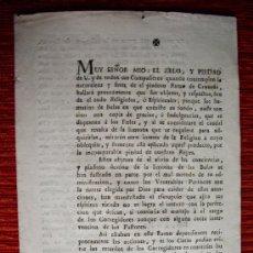 Documentos antiguos: 1783-BULAS Y LIMOSNAS.BANDO PÁRROCOS. JORGE ESCOBEDO.SUPREMO DE INDIAS.. Lote 30857000
