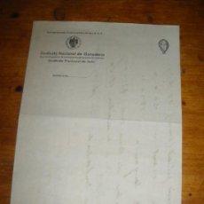 Documentos antiguos: CENTRAL NACIONAL SINDICALISTA. SINDICATO NACIONAL DE GANADERIA. SALIDA.. Lote 30874322