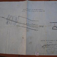 Documentos antiguos: 1928. BORGES DEL CAMP TARRAGONA CRUCE LA LA RIERA DE LAS BORJAS TREN FERROCARRIL MZA GUINARDERAS. Lote 31034941