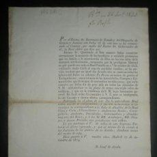 Documentos antiguos: CONMEMORACION POR LA LIBERTAD DE LA FAMILIA REAL TRAS 3 AÑOS DE ANARQUIA REVOLUCIONARIA AÑO 1824. Lote 31249847