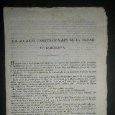 Documentos antiguos: REAL DECRETO DE LA REINA GOBERNADORA Dª Mª CRISTINA EN NOMBRE DE Dª ISABEL REINA DE LAS ESPAÑAS . Lote 31214498