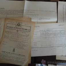 Documentos antiguos: LOTE DE 6 DOCUMENTOS MILITARES. Lote 31205916