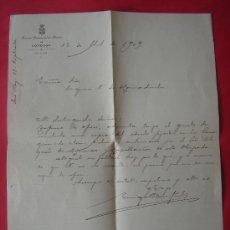 Documentos antiguos: DOCUMENTO DIRIGIDO A LA DUQUESA DE HORNACHUELOS -12-ABRIL-1909-. EN .. Lote 31212722