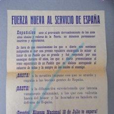 Documentos antiguos: 1 OCTAVILLA DE FUERZA NUEVA, COMO PROPAGANDA A PRIMERAS ELECCIONES GENERALES EN ESPAÑA. -1977-. Lote 31302361